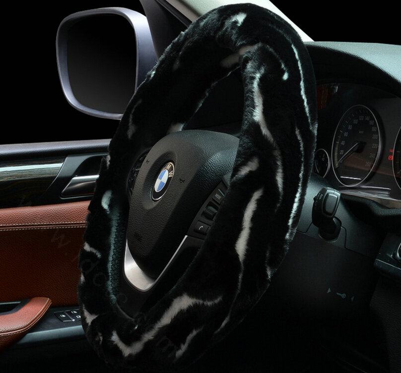 buy wholesale high quality milk cow print pu leather car steering wheel covers 15 inch 38cm. Black Bedroom Furniture Sets. Home Design Ideas