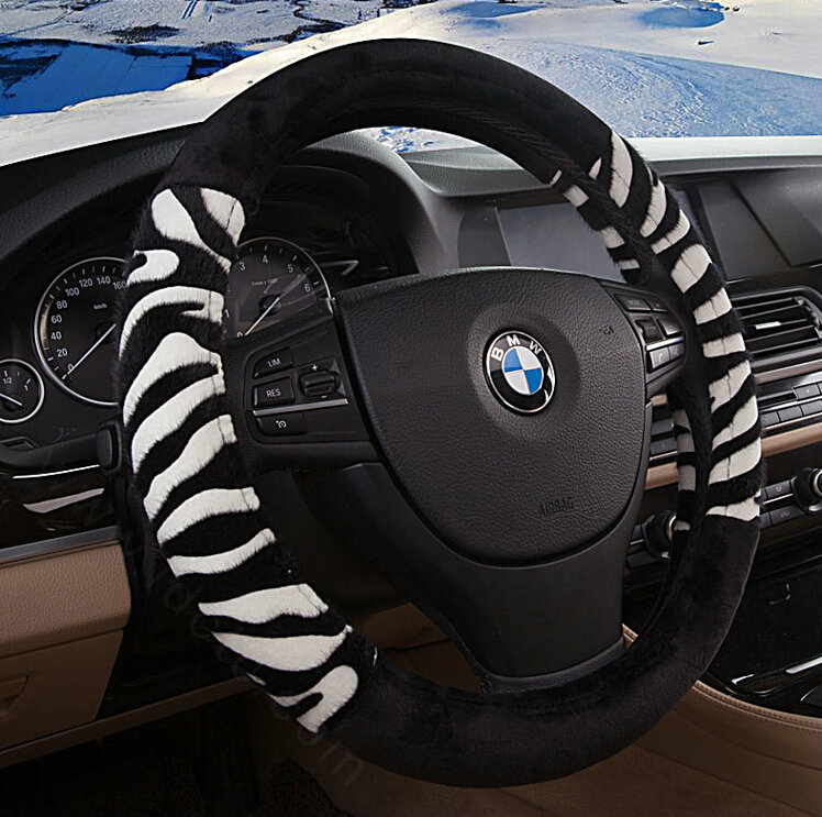 buy wholesale fringe zebra print car steering wheel wrap velvet 15 inch 38cm black white from. Black Bedroom Furniture Sets. Home Design Ideas