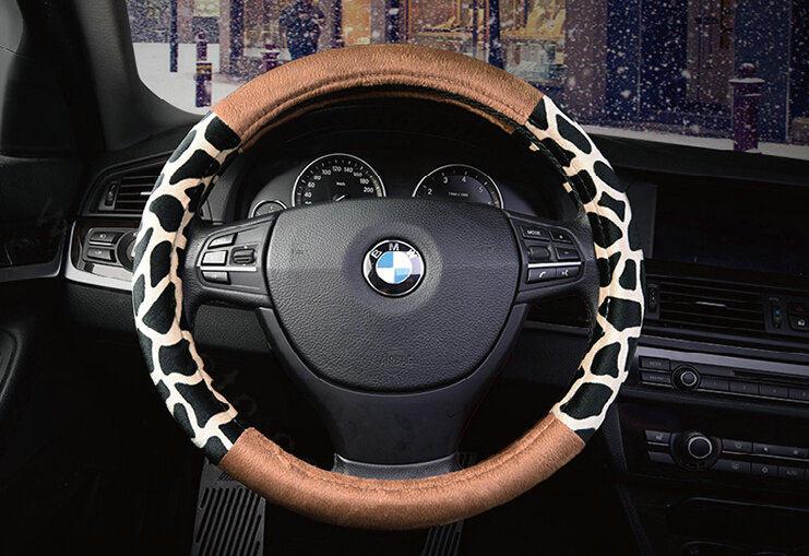 buy wholesale lovely leopard print auto steering wheel wrap velvet 15 inch 38cm red from. Black Bedroom Furniture Sets. Home Design Ideas