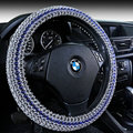 Quality Beaded Car Steering Wheel Cover 15 Inch 38CM - Blue