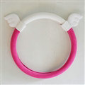 Cute Angel Wings Suedette Universal Car Steering Wheels Covers 15 Inch - Rose White