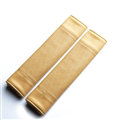 Calssic Man PU Leather Car Seat Safety Belt Covers Pads Car Decoration 2pcs - Beige