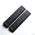 Calssic Man PU Leather Car Seat Safety Belt Covers Pads Car Decoration 2pcs - Black