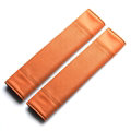 Calssic Man PU Leather Car Seat Safety Belt Covers Pads Car Decoration 2pcs - Brown