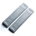 Calssic Man PU Leather Car Seat Safety Belt Covers Pads Car Decoration 2pcs - Gray