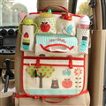 Cute Apple Multi-function Car Seat Back Hanging Pocket Thermal Insulation Storage Bag - Red