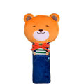 Cute Large Bear Car Seat Safety Belt Covers Pads Winter Plush Long Cushion 1pcs - Blue