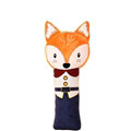 Cute Large Fox Car Seat Safety Belt Covers Pads Winter Plush Long Cushion 1pcs - Blue