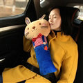 Cute Large Rabbit Car Seat Safety Belt Covers Pads Winter Plush Long Cushion 1pcs - Blue
