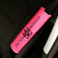 1pcs Car Safety Seat Belt Covers Personalized Embroidery Leather Auto Interior Accessories - Rose