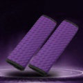 2pcs Car Safety Seat Belt Covers Weaving Leather Shoulder Pads Auto Interior Accessories - Purple