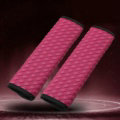 2pcs Car Safety Seat Belt Covers Weaving Leather Shoulder Pads Auto Interior Accessories - Rose