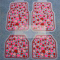 5pcs Rubber Car Floor Mats Women Hearts Universal Carpet Interior Decorative Sets - Red