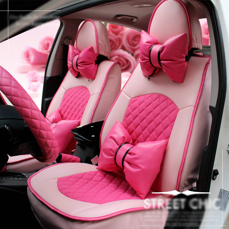 buy wholesale cute auto seat covers for women pu leather universal lace packs car seat cushion. Black Bedroom Furniture Sets. Home Design Ideas