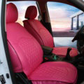 Automotive Seat Covers for Women PU Leather Universal Packs Car Seat Cushion Set - Rose