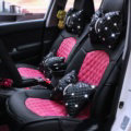 Automotive Seat Covers for Women Quality PU Leather Universal Car Seat Cushion Set - Rose