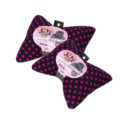 Calssic Polka Dot Car Neck Pillows Headrest Cotton Auto Interior Decoration 1pcs - Black Rose