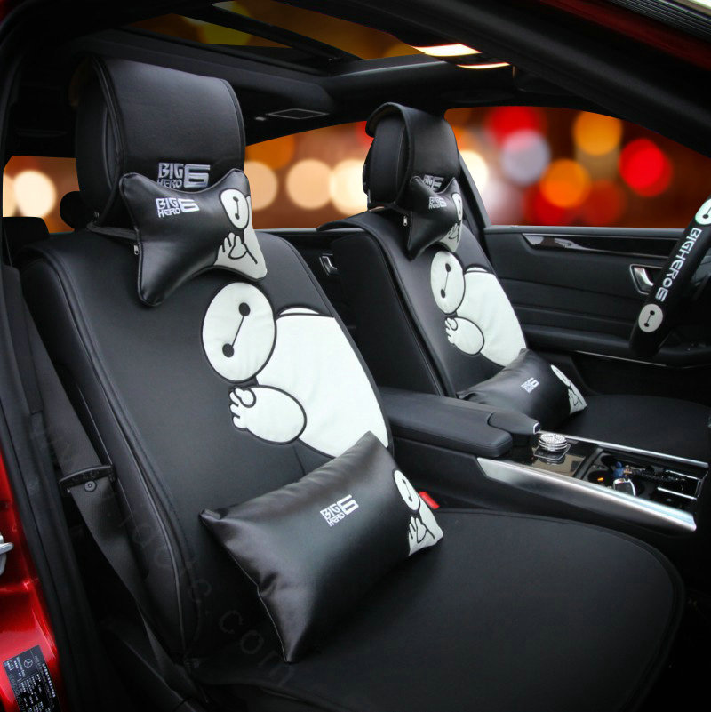 buy wholesale cute embroidery car seat waist pillows women pu leather auto interior accessories. Black Bedroom Furniture Sets. Home Design Ideas