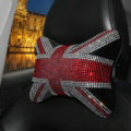 Diamond United Kingdom Flag Car Neck Pillows Headrest Soft Plush Auto Interior Decoration 1pcs - Black