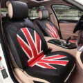 Fashion Mi British Flag Style Universal Vehicle Seat Cushion PU Leather 7pcs Sets - Black Red