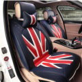 Gorgeous Mi British Flag Universal Auto Car Seat Cushion PU Leather 7pcs Sets - Blue Red