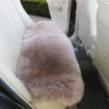 High Quality Wool Universal Car Seat Cushion Winter Fur One Piece Long Pads 1pcs - Bean Paste