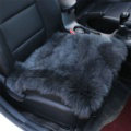 High Quality Wool Universal Car Seat Cushion Winter Fur One Piece Pads 1pcs - Black Gray