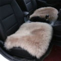 High Quality Wool Universal Car Seat Cushion Winter Fur One Piece Pads 1pcs - Camel