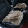 High Quality Wool Universal Car Seat Cushion Winter Fur One Piece Pads 1pcs - Khaki