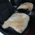 High Quality Wool Universal Car Seat Cushion Winter Fur One Piece Pads 1pcs - Light Camel