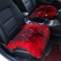 High Quality Wool Universal Car Seat Cushion Winter Fur One Piece Pads 1pcs - Red Black