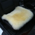 High Quality Wool Universal Car Seat Cushion Winter Fur One Piece Pads 1pcs - Yellow