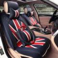 Hot sales Mi British Flag Style Universal Auto Seat Cushion PU Leather 12pcs Sets - Blue Red