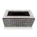 Luxury Crystal Car Tissue Paper Box Case For Vehicle Office Home Creative Decor - White Black