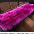 Luxury Pure Wool Universal Car Seat Cushion Winter Sheepskin Fur Auto Long Pads 1pcs - Purple