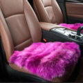Luxury Pure Wool Universal Car Seat Cushion Winter Sheepskin Fur Auto Pads 1pcs - Purple