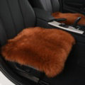 Luxury Winter Wool Universal Car Seat Cushion Sheepskin Fur One Piece Pads 1pcs - Brown
