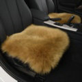 Luxury Winter Wool Universal Car Seat Cushion Sheepskin Fur One Piece Pads 1pcs - Green