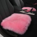 Luxury Winter Wool Universal Car Seat Cushion Sheepskin Fur One Piece Pads 1pcs - Pink