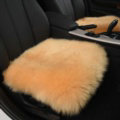 Luxury Winter Wool Universal Car Seat Cushion Sheepskin Fur One Piece Pads 1pcs - Yellow
