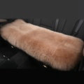Luxury Winter Wool Universal Car Seat Long Cushion Sheepskin Fur One Piece Pads 1pcs - Camel