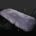 Luxury Winter Wool Universal Car Seat Long Cushion Sheepskin Fur One Piece Pads 1pcs - Gray
