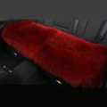 Luxury Winter Wool Universal Car Seat Long Cushion Sheepskin Fur One Piece Pads 1pcs - Red