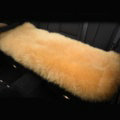 Luxury Winter Wool Universal Car Seat Long Cushion Sheepskin Fur One Piece Pads 1pcs - Yellow