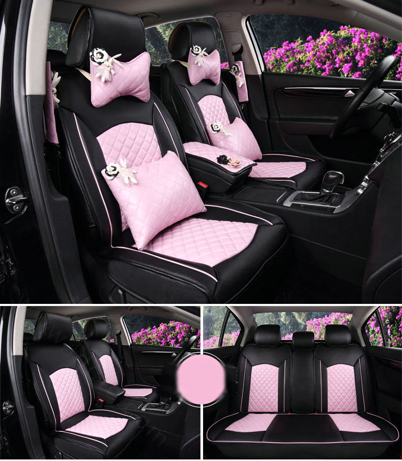buy wholesale super female car seat covers four seasons general leather packs cushion for 5. Black Bedroom Furniture Sets. Home Design Ideas