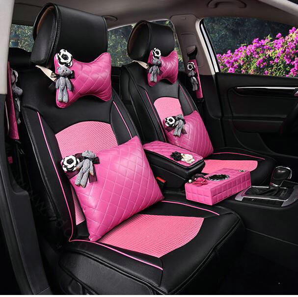 buy wholesale top leather car seat covers four seasons general ice silk cushion for 5 seats. Black Bedroom Furniture Sets. Home Design Ideas