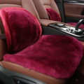Top Quality Pure Wool Universal Car Front Seat Cushion Sheepskin Fur Waist Pads 2pcs - Rose