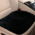 Top Quality Pure Wool Universal Car Seat Cushion Sheepskin Fur One Piece Pads 1pcs - Black