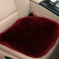 Top Quality Pure Wool Universal Car Seat Cushion Sheepskin Fur One Piece Pads 1pcs - Dark Red