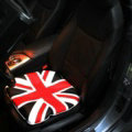 UK British Flag Print Car Seat Cushion Four Seasons General Leather Auto Front Pads 1pcs - Red